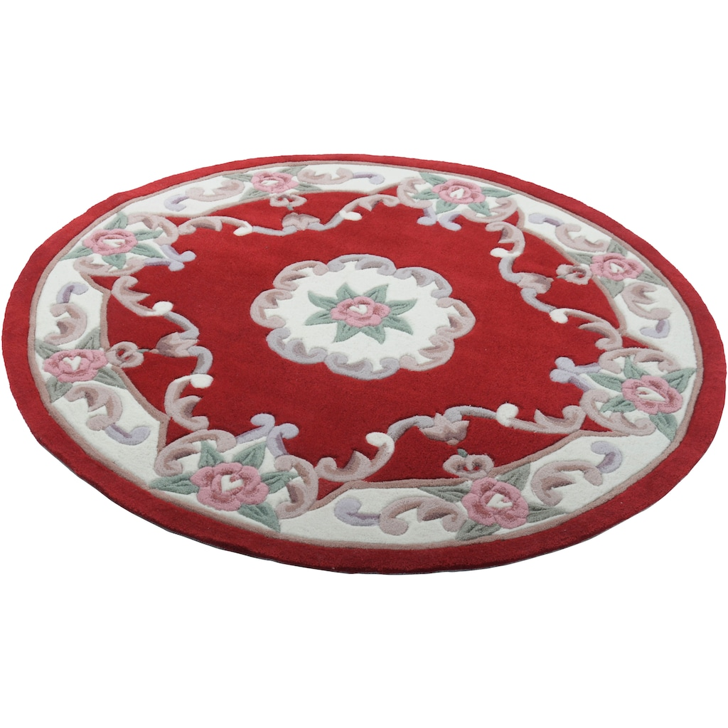THEKO Teppich »Ming«, rund, 14 mm Höhe, hochwertiges Acrylgarn, Wohnzimmer
