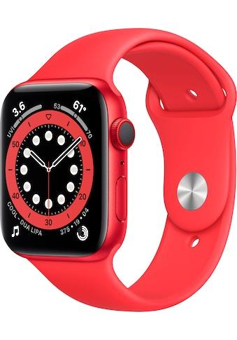 Apple Watch »Series 6 GPS + Cellular, Aluminiumgehäuse mit Sport 44mm«, (Watch OS 6... kaufen