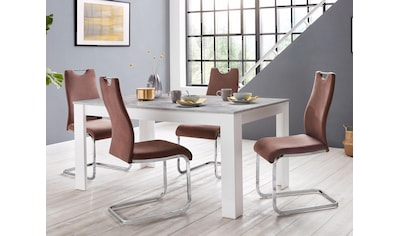 Homexperts Essgruppe »Zabona«, (Set, 5 tlg.), 4 Stühle und 1 Tisch kaufen