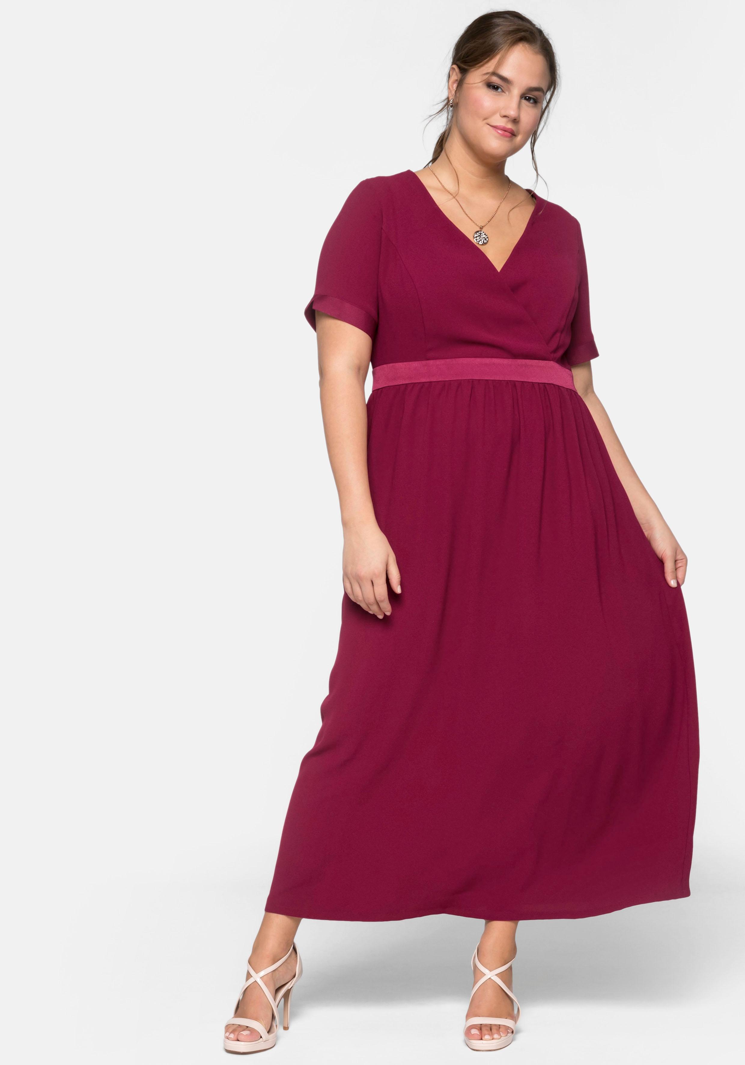 Sheego Abendkleid rot Damen Abendkleider Kleider