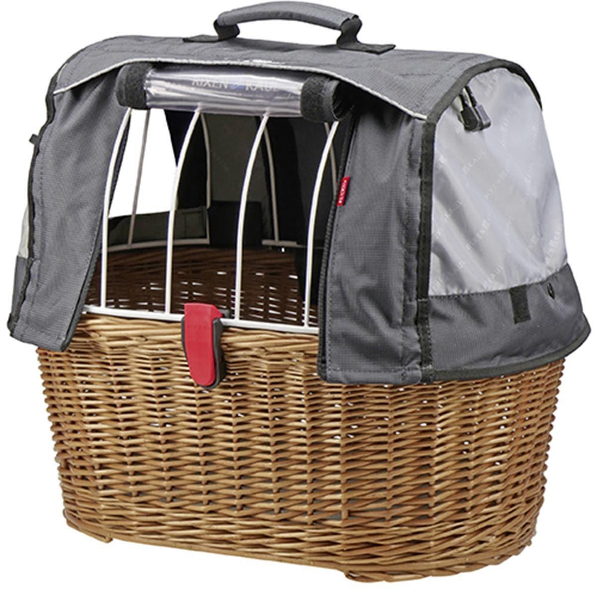 KlickFix Fahrradkorb Weidenkorb Doggy Basket braun Fahrradkörbe Fahrradzubehör Fahrräder Zubehör Taschen