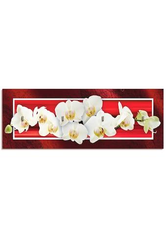 Artland Schlüsselbrett »Orchideen«, aus Holz mit 4 Schlüsselhaken – Schlüsselboard,... kaufen
