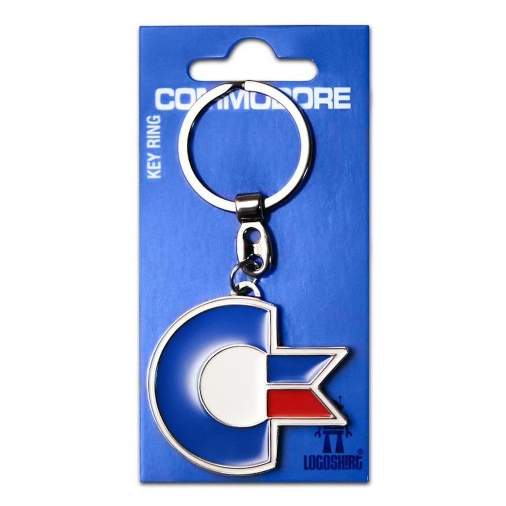 LOGOSHIRT Schlüsselanhänger mit Nerd Commodore C64-Logo