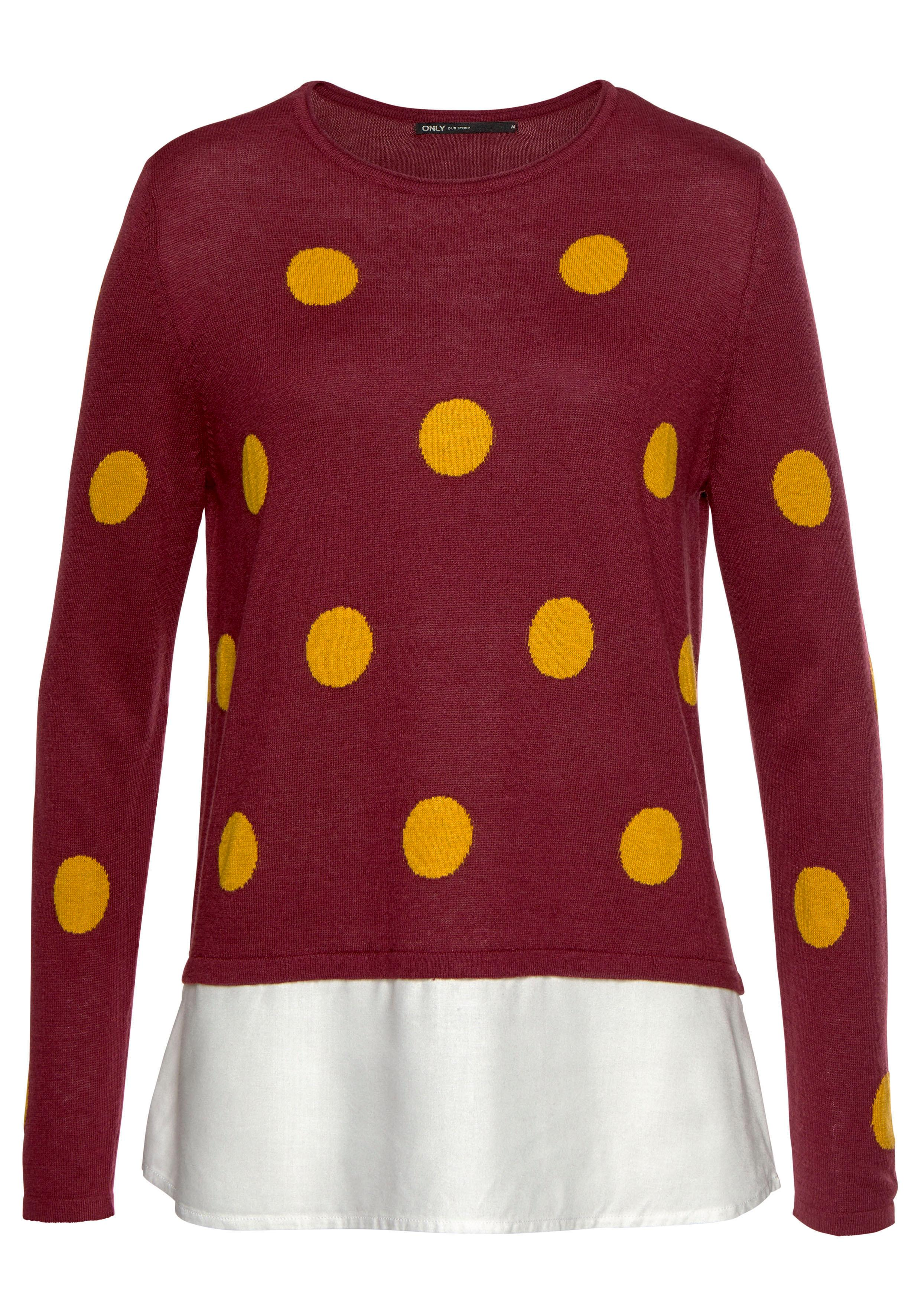 Only 2-in-1-Pullover AVILDE   Bekleidung > Pullover > 2-in-1 Pullover   Rot   Only