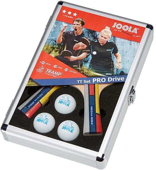 Joola Tischtennisschläger Pro Drive (Set, mit Schlägerhülle mit Tennisbällen), bunt