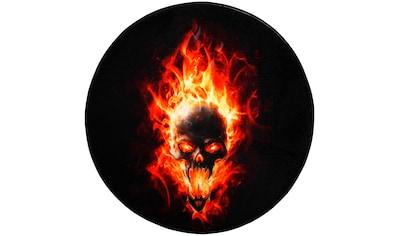 Sanilo Badematte »Totenkopf Flammen«, Höhe 15 mm, schnell trocknend, Memory Schaum kaufen