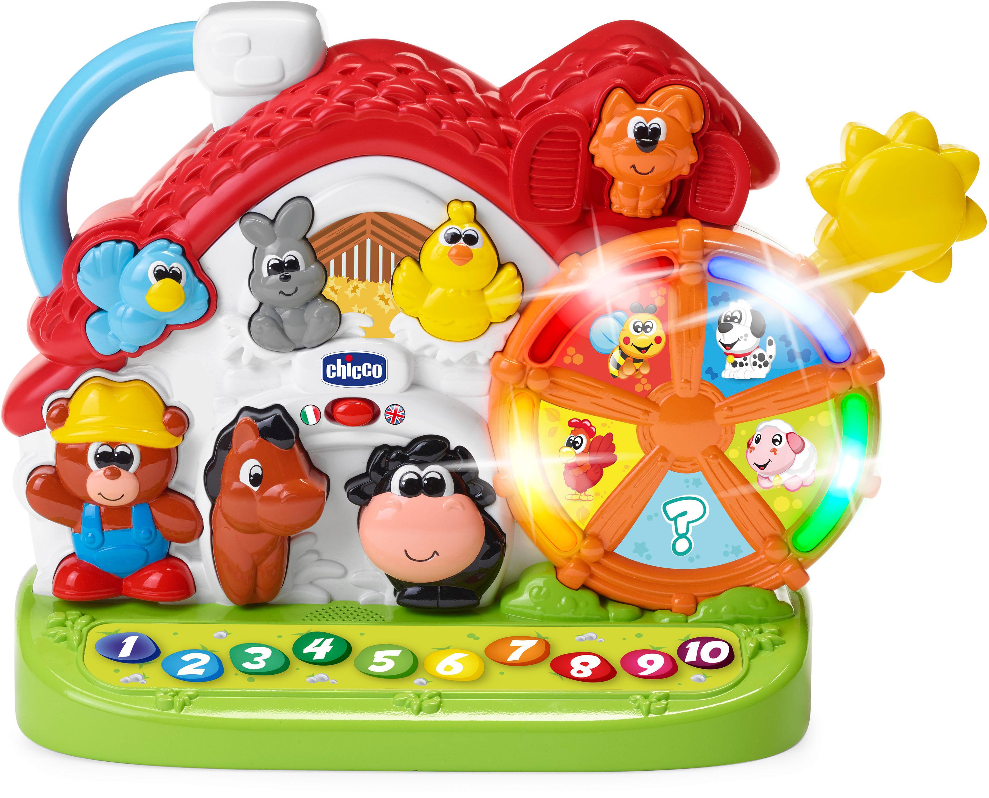 Chicco Lernspielzeug Sprechende Farm (D/GB) bunt Kinder Lernspiele