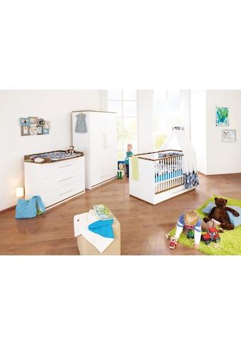 Pinolino® Babyzimmer-Komplettset »Tuula«, (Set, 3 St.), breit; mit Kinderbett, Schrank... kaufen