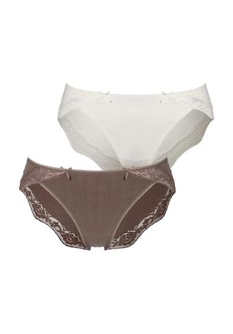 LASCANA Bikinislip, mit zarter Spitze und Nadelzugstreifen kaufen