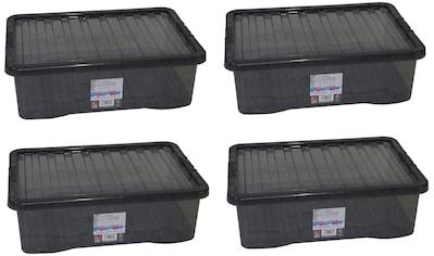 WHAM – What more UK Aufbewahrungsbox »Crystal-Boxen«, (Set, 4 St.), je 32 Liter kaufen