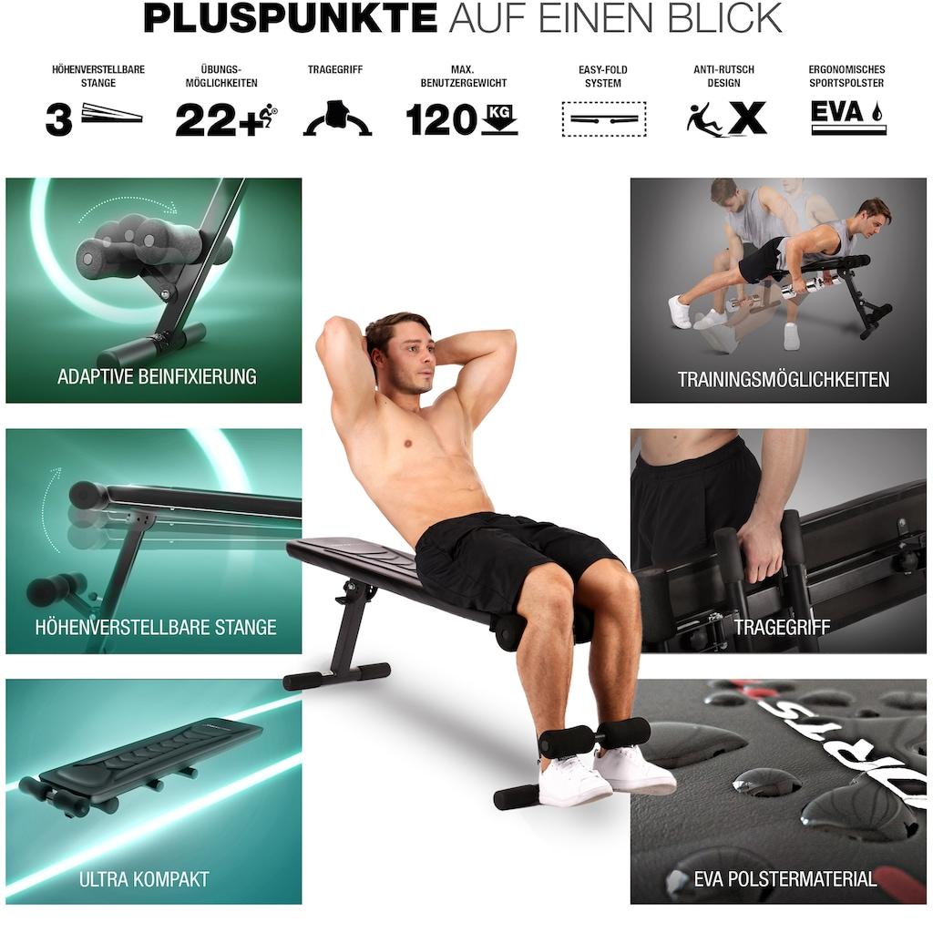 Sportstech Hantelbank »BRT100«, 30in1 Fitnessbank, mit Tragegriff, klappbar