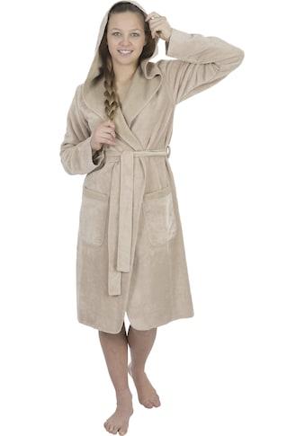 Wewo fashion Damenbademantel »6124«, (1 St.), mit Overlooknaht kaufen