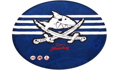 Capt`n Sharky Kinderteppich »SH-313«, rund, 6 mm Höhe, bedruckter Stoff, weiche... kaufen