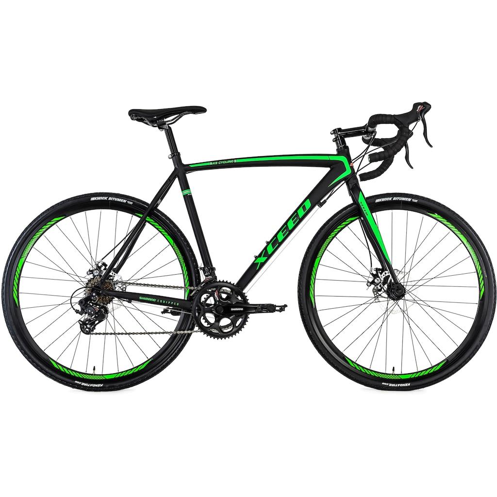 KS Cycling Gravelbike »Xceed«, 14 Gang, Shimano, Tourney Schaltwerk, Kettenschaltung