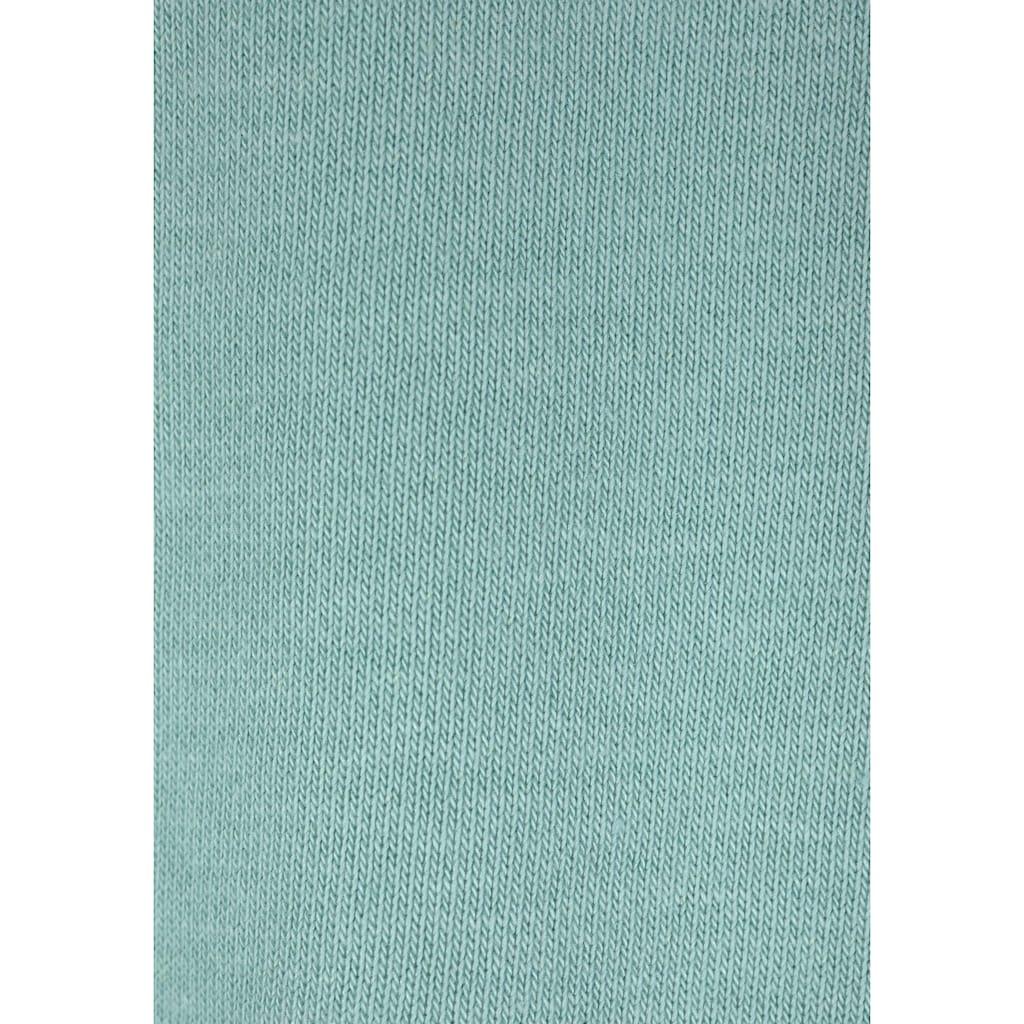Bench. Kapuzensweatshirt, mit gestreiftem Bund und Glanzprint