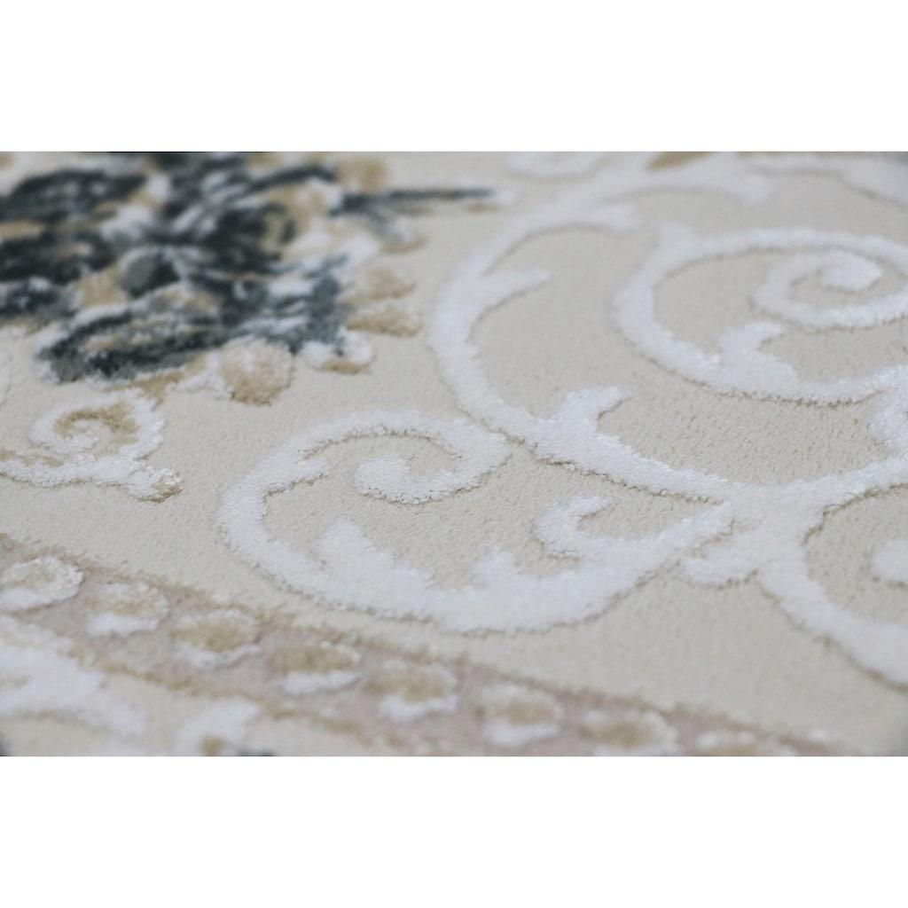 RESITAL The Voice of Carpet Teppich »Lara 350«, rechteckig, 11 mm Höhe, Kurzflor mit Hoch-Tief-Struktur, Wohnzimmer
