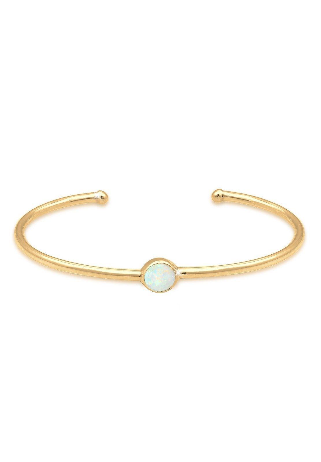 Elli Armreif Armreif Bangle Synthetischer Opal Trend 925 Silber | Schmuck > Armbänder > Armreifen | Elli