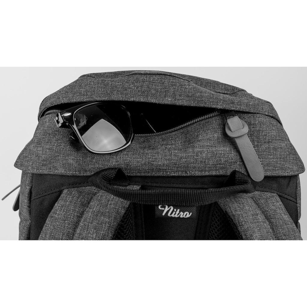 NITRO Freizeitrucksack »Daypacker, True Black«, mit Laptopfach