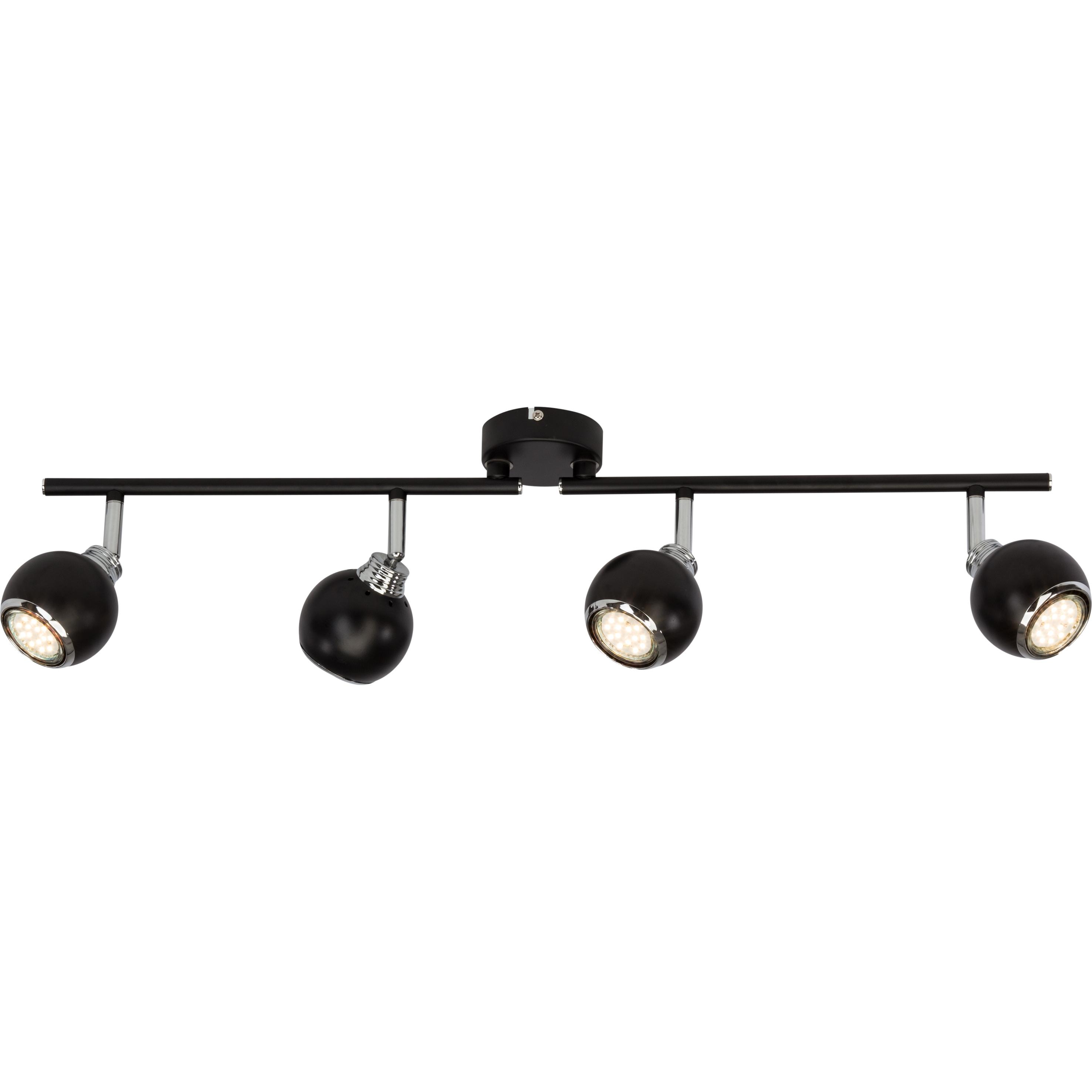 Brilliant Leuchten Ina LED Spotrohr 4flg schwarz/chrom