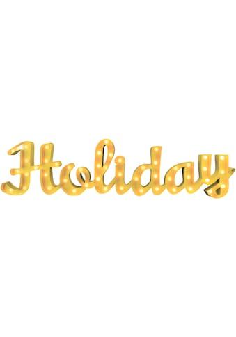 MARQUEE LIGHTS LED Dekolicht »Holiday Schriftzug«, 1 St., Warmweiß, Wandlampe,... kaufen