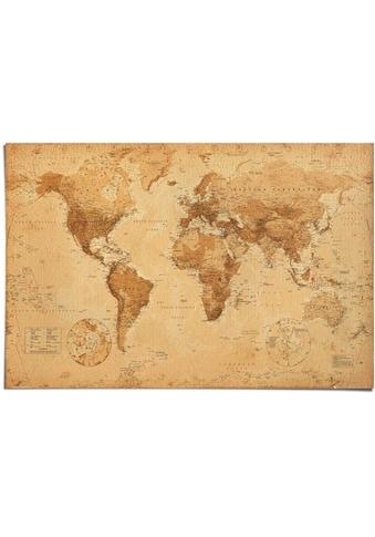 Reinders! Poster »Poster Weltkarte Antik Stil«, Weltkarte, (1 St.) kaufen