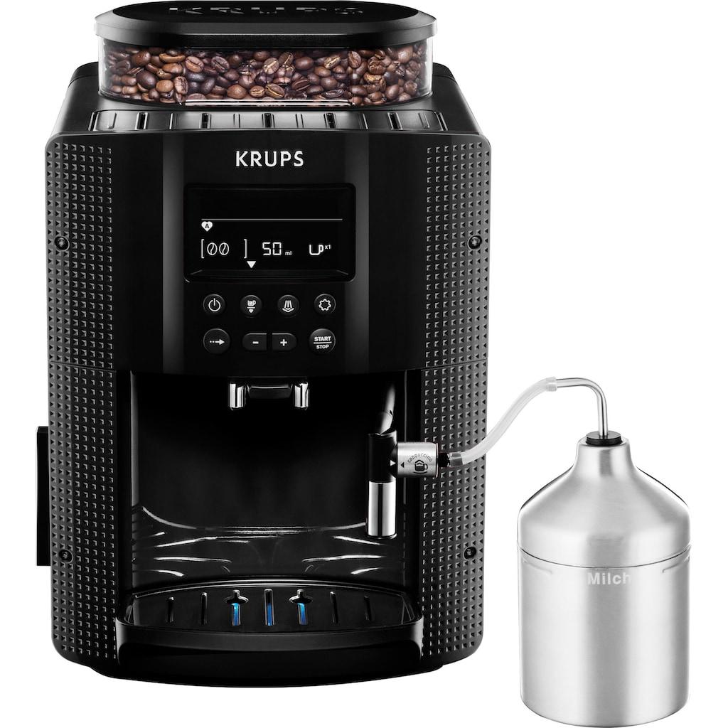 Krups Kaffeevollautomat EA8160, 1,8l Tank, Kegelmahlwerk