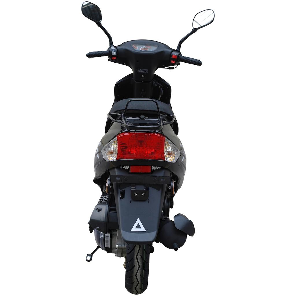Alpha Motors Mofaroller »Cityleader«, 2,2 PS, 50 ccm, 25 km/h, schwarz inkl. Topcase