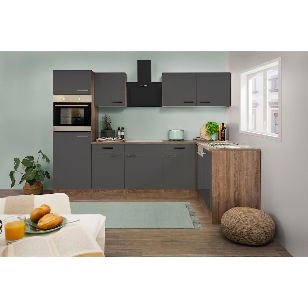 RESPEKTA Winkelküche »York«, mit E-Geräten, Breite 280 x 172 cm