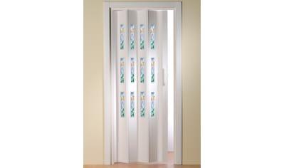 Kunststoff - Falttür »Dekor 5 Mosaik«, BxH: 88,5x202 cm, mit dekorativem Motiv im Fenster kaufen