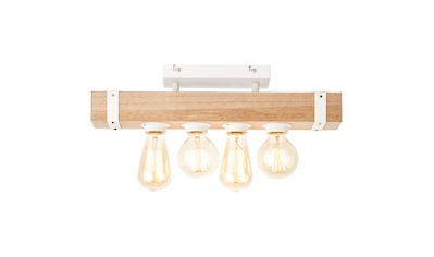 Brilliant Leuchten White Wood Deckenleuchte 4flg beton/holz hellweiß kaufen