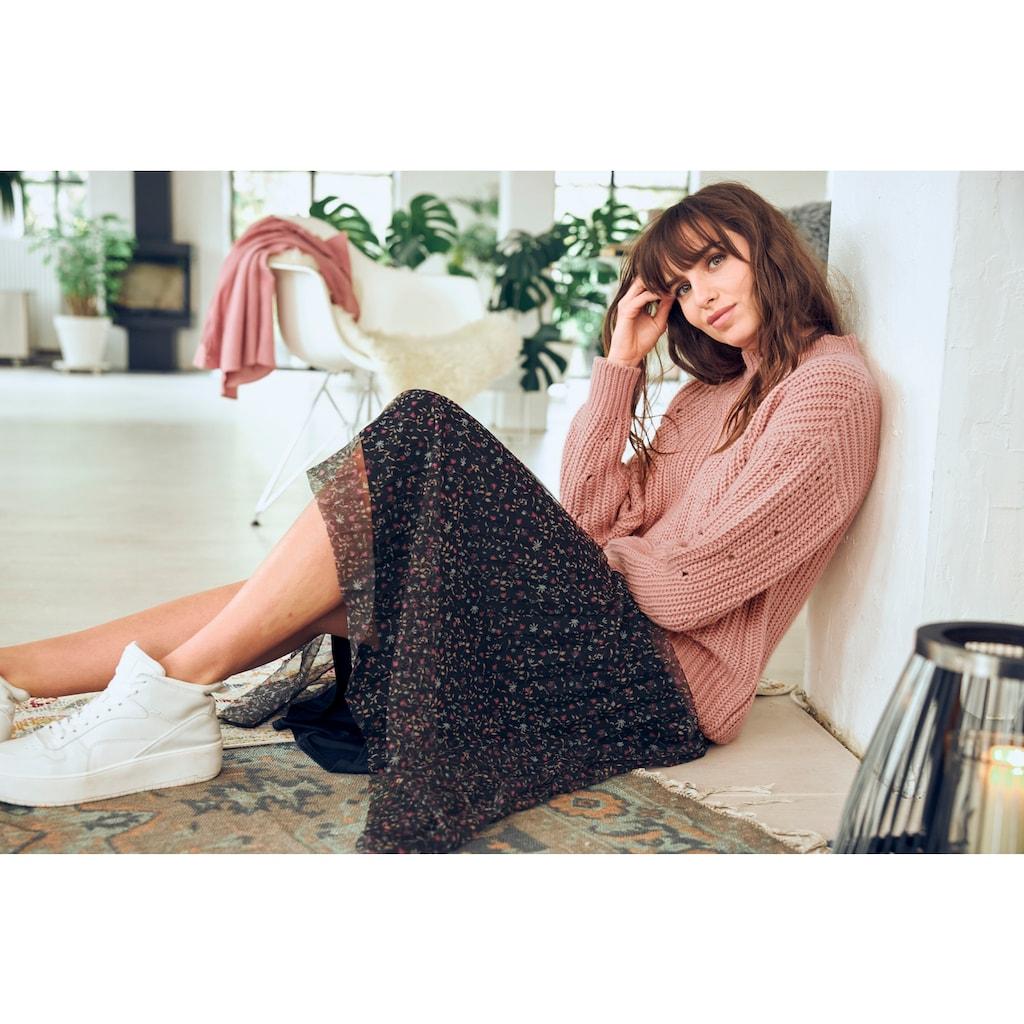 Aniston CASUAL Stehkragenpullover, im Mustermix