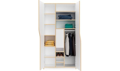 Müller SMALL LIVING Kleiderschrank »PLANE Ausstattung Nr. 5«, inklusive einer innenliegenden Tür und einer Kleiderstange für Blusen und Blazer oder Kinderbekleidung kaufen