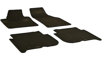 Walser Passform-Fußmatten, VW, Touran, Großr.lim., (4 St., 2 Vordermatten, 2 Rückmatten), für VW Touran BJ 2003 - 2015 mit ovaler Befestigung kaufen