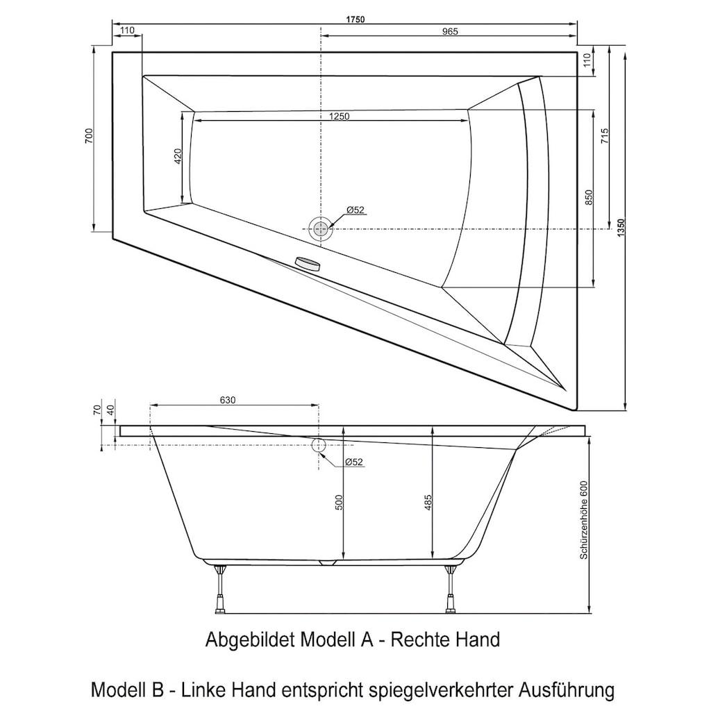 OTTOFOND Badewanne »Galia II«, mit Wannenträger