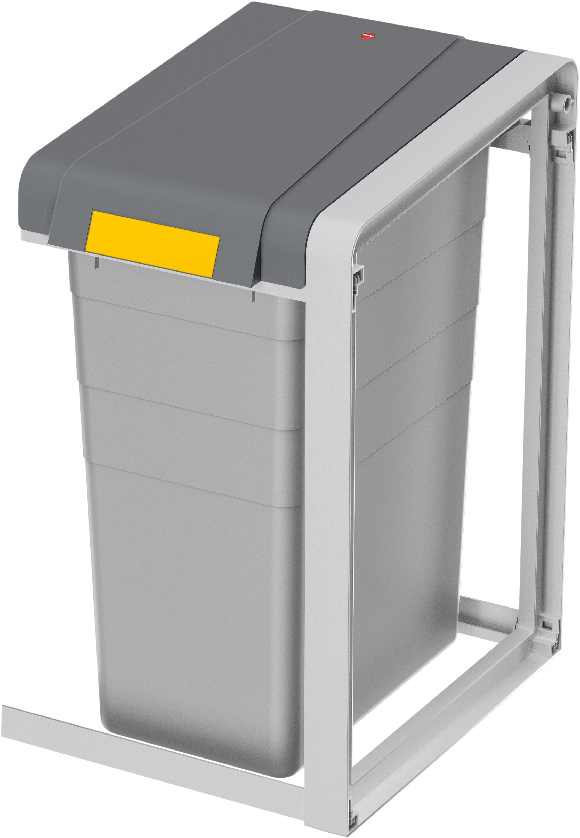 Hailo Mülltrennsystem ProfiLine Öko XL,Erweiterungseinheit,38l grau Mülleimer Küchenhelfer Haushaltswaren