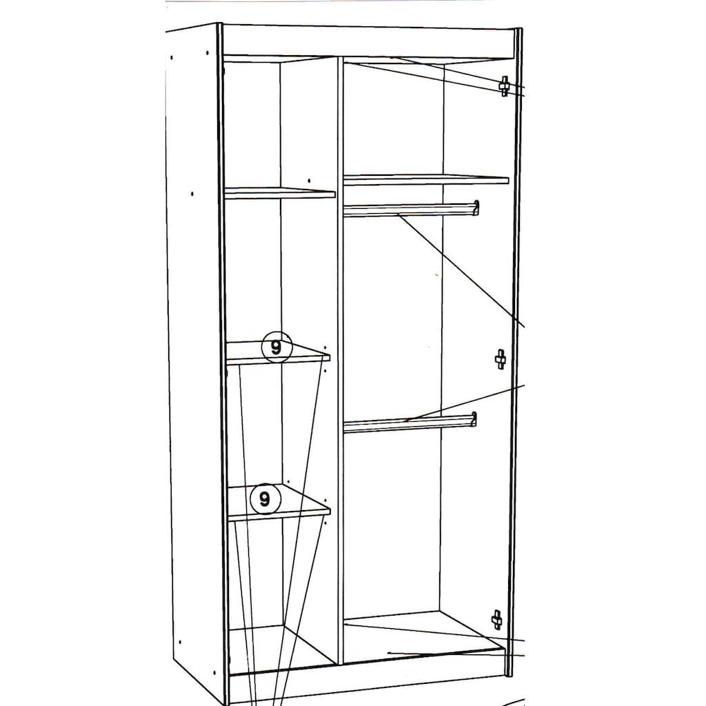 Parisot Jugendzimmer-Set »Charly 16«, (Set, 5 St.), mit einem Kleiderschrank