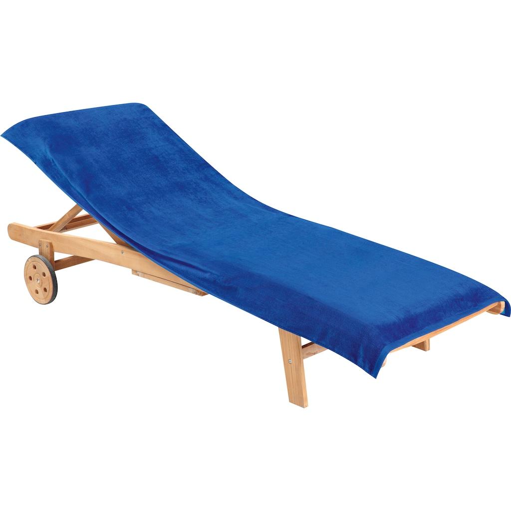 Delindo Lifestyle Strandtuch »Tropical«, (1 St.), mit Umschlag für besseren Halt auf dem Liegestuhl