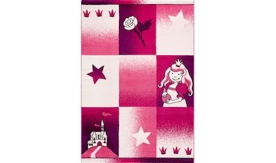 Sanat Kinderteppich »Bambino 2101«, rechteckig, 11 mm Höhe, Prinzessin Schloß Motiv kaufen