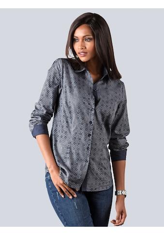 Alba Moda Bluse in farbharmonischem Minimaldessin kaufen