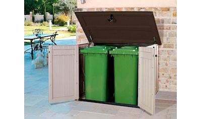 TEPRO Mülltonnenbox »Store It Out MAXI«, für 2x240 l aus Polyprpylen, BxTxH: 146x82x125 cm kaufen
