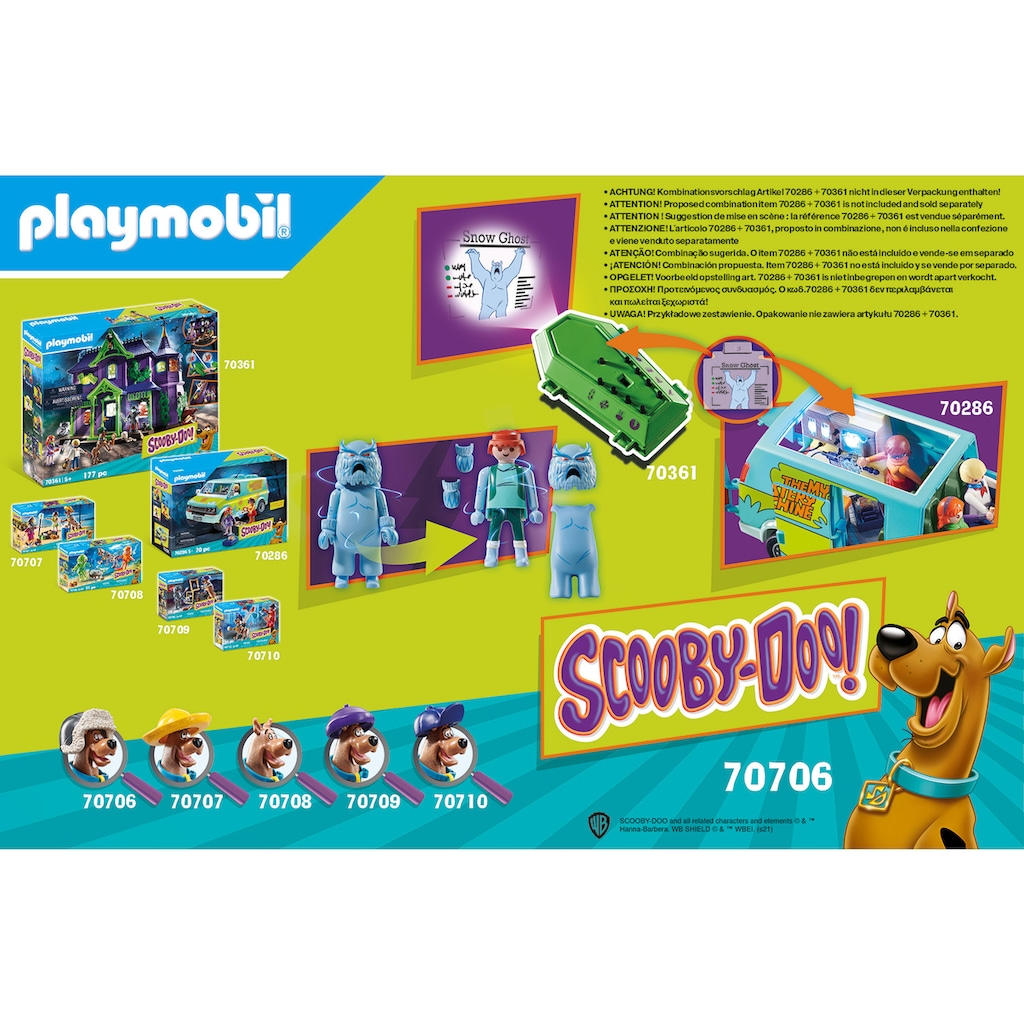 Playmobil® Konstruktions-Spielset »SCOOBY-DOO! Abenteuer mit Snow Ghost (70706), SCOOBY-DOO!«, (46 St.), Made in Germany