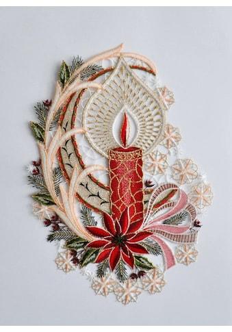 Stickereien Plauen Fensterbild »Fensterbild Kerze« (1 Stück) kaufen