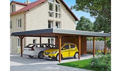 Skanholz Doppelcarport »Wendland«, Leimholz-Nordisches Fichtenholz, 550 cm, braun kaufen