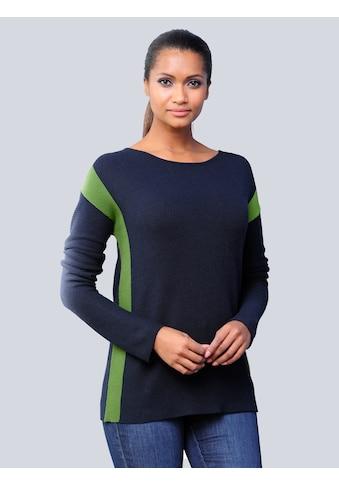 Alba Moda Pullover mit kontrastfarbigen Blockstreifen kaufen