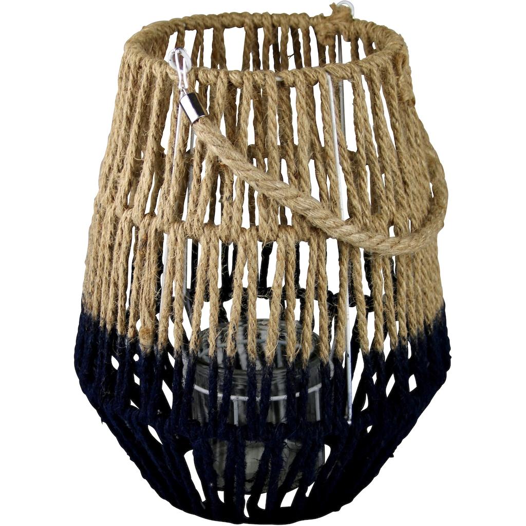 AM Design Laterne, aus Sisal, mit Kordel
