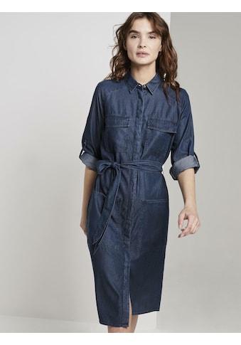 TOM TAILOR Jeanskleid »Jeanskleid mit Bindegürtel« kaufen