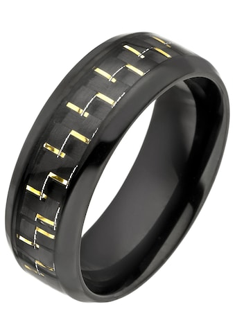 JOBO Fingerring, Edelstahl schwarz beschichtet mit Carbon-Einlage kaufen