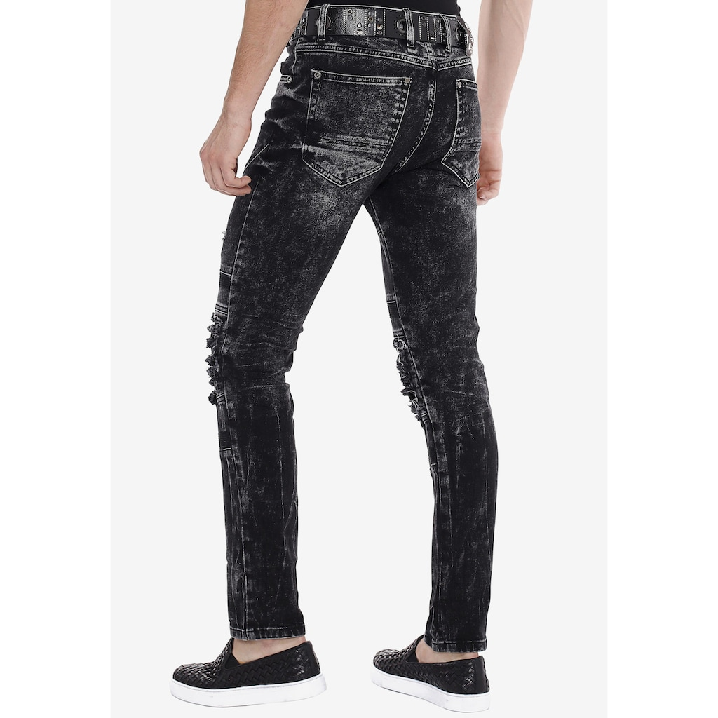 Cipo & Baxx Slim-fit-Jeans, im Used-Destroyed-Look in Straight Fit