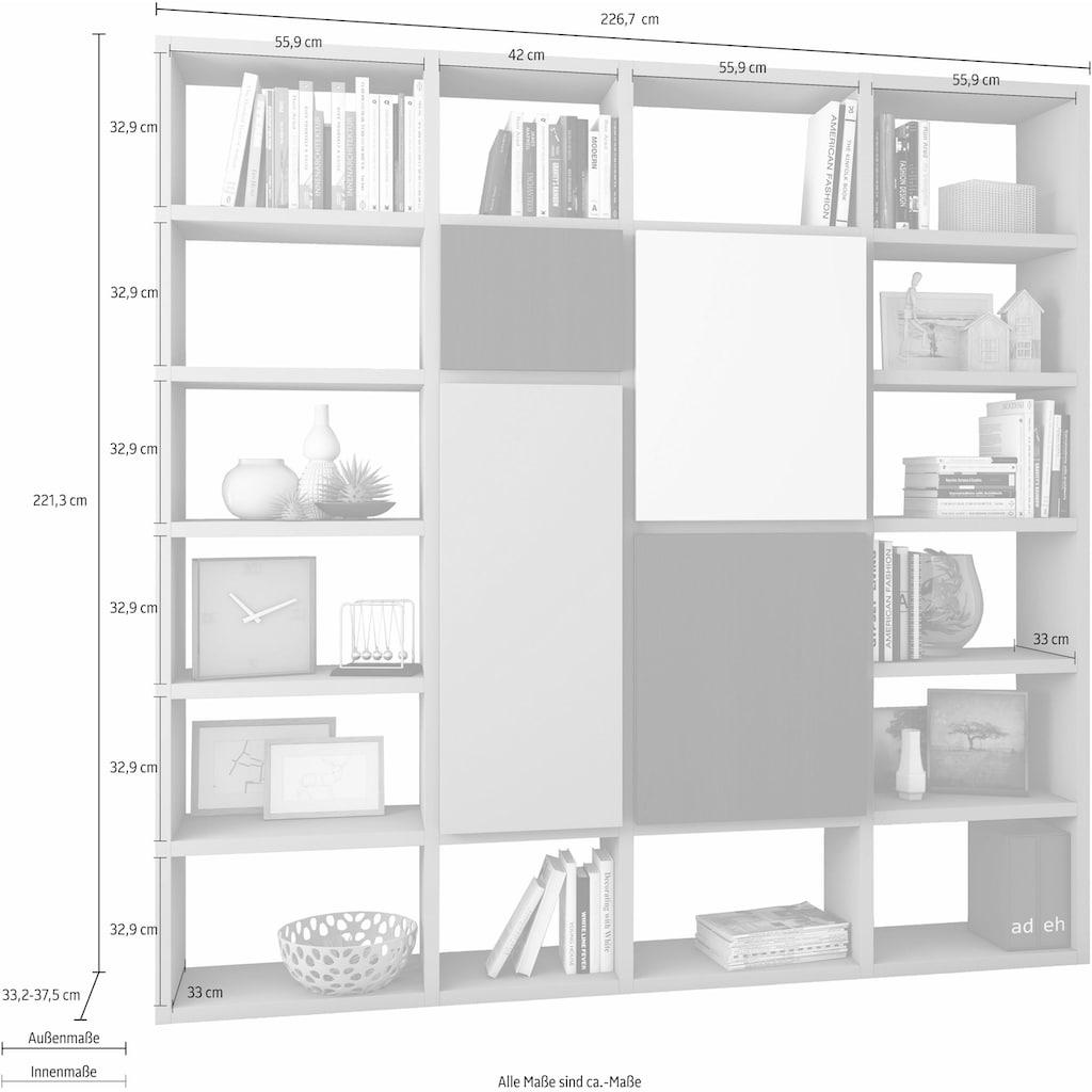 fif möbel Raumteilerregal »TOR514«, Breite 227 cm