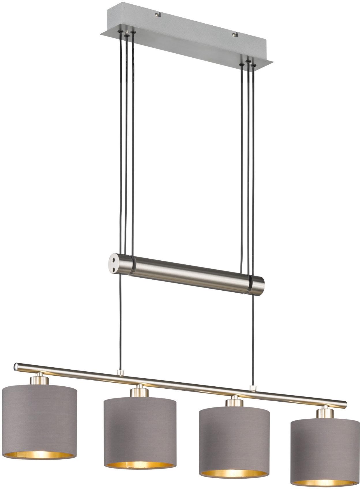 TRIO Leuchten Pendelleuchte GARDA, E14, Hängeleuchte, höhenverstellbar